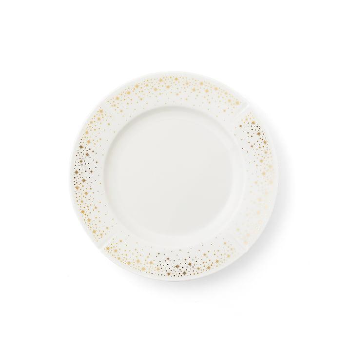 L'assiette Moments Grand Cru, Ø 19 cm, blanc / or par Rosendahl
