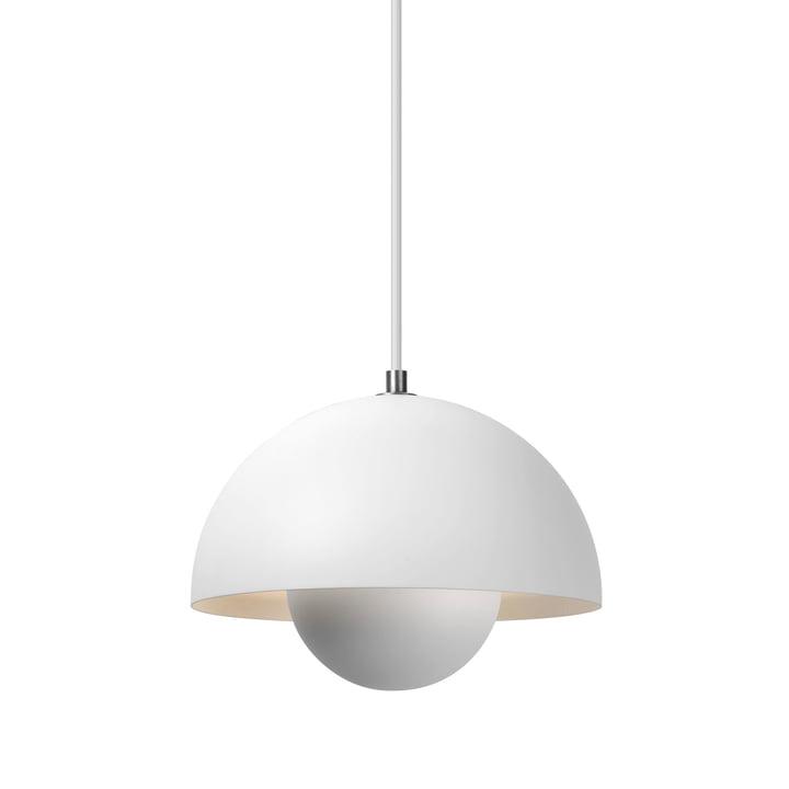 La lampe à suspension FlowerPot VP1 de & Tradition, blanc mat