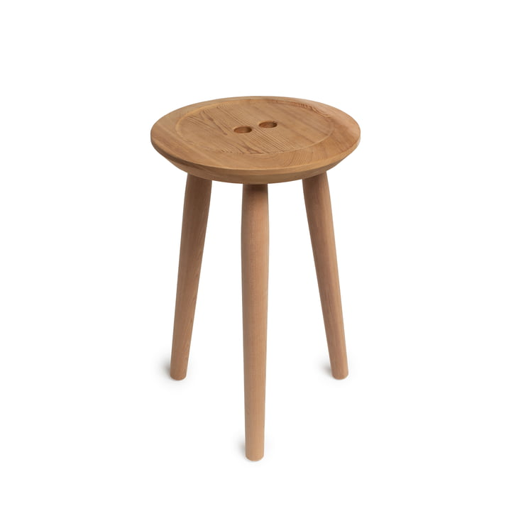 Le Button tabouret, en chêne / Red Cedar de We Do Wood