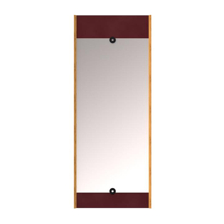 Le Layer miroir mural, rouge bordeaux de We Do Wood