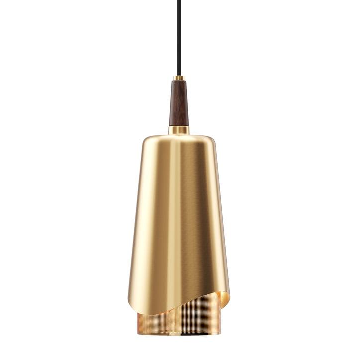 La lampe à suspension Umanoff, en laiton / noyer de Menu