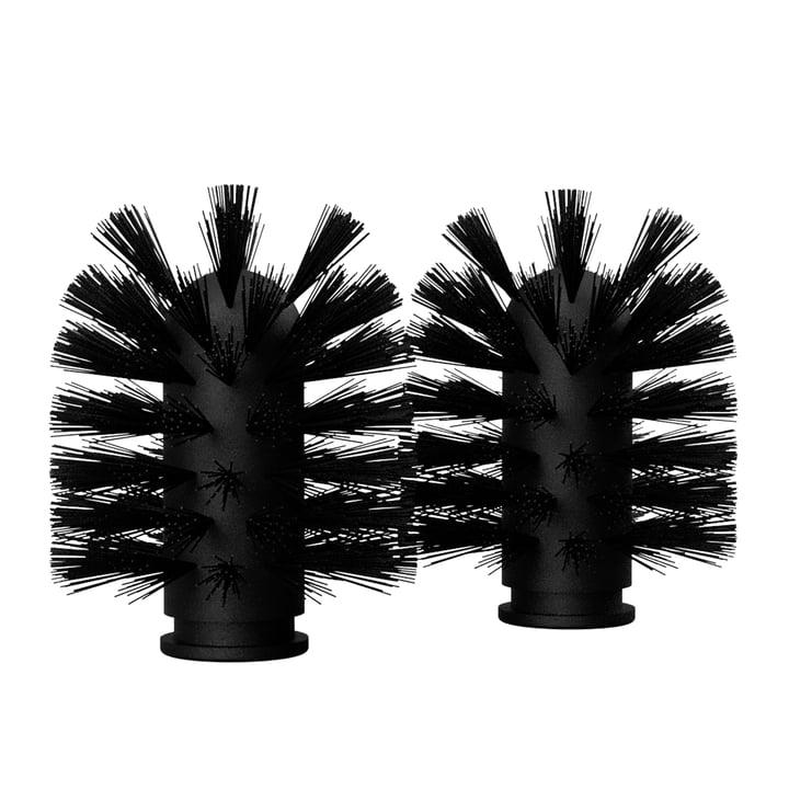 Les têtes de brosses de remplacement de Nichba Design en noir