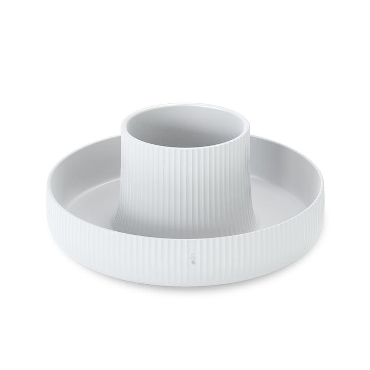 Le pot de fleurs Fountain de Umbra en blanc