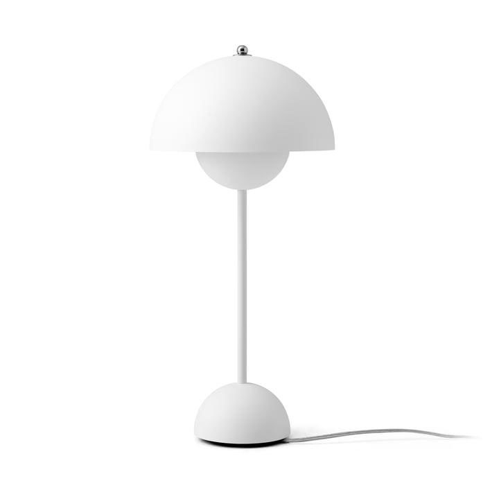 Lampe de table FlowerPot VP3 de & tradition en blanc mat