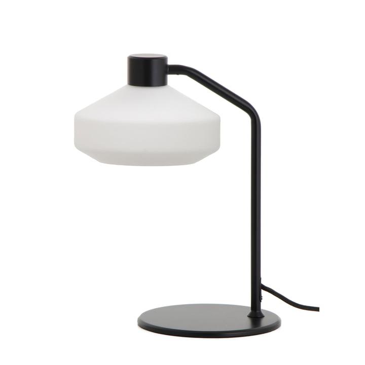 La lampe de table Mayor de Frandsen en noir mat / blanc opale