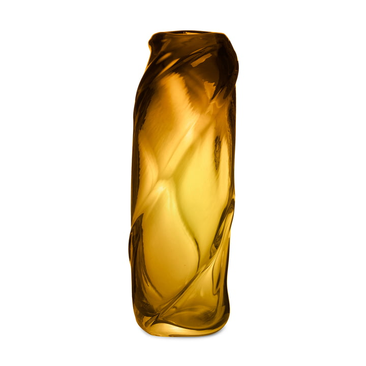 Le vase Water Swirl de ferm Living in amber