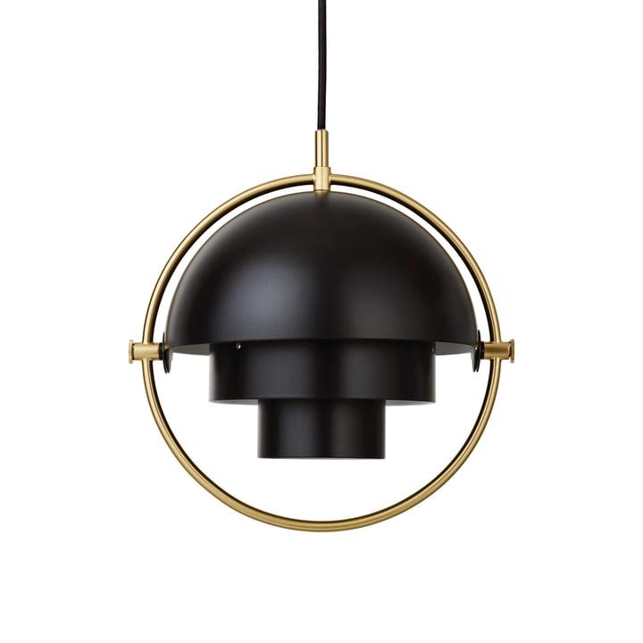 Multi-Lite Lampe suspendue S Ø 22,5 cm par Gubi en laiton / noir