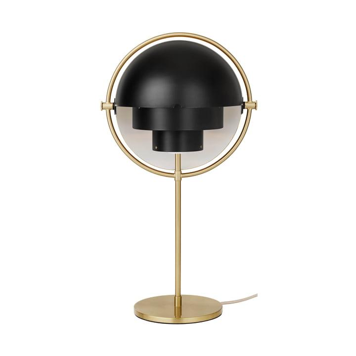 Lampe de table Multi-Lite de Gubi en laiton / noir