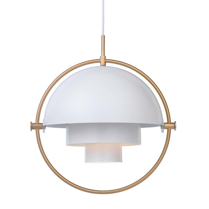 Multi-Lite Lampe suspendue Ø 36 cm de Gubi en laiton / blanc