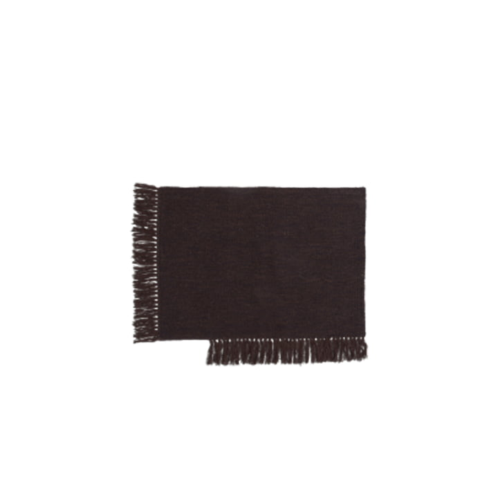 Le paillasson Kelim de ferm Living in dark melange, 50 x 70 cm