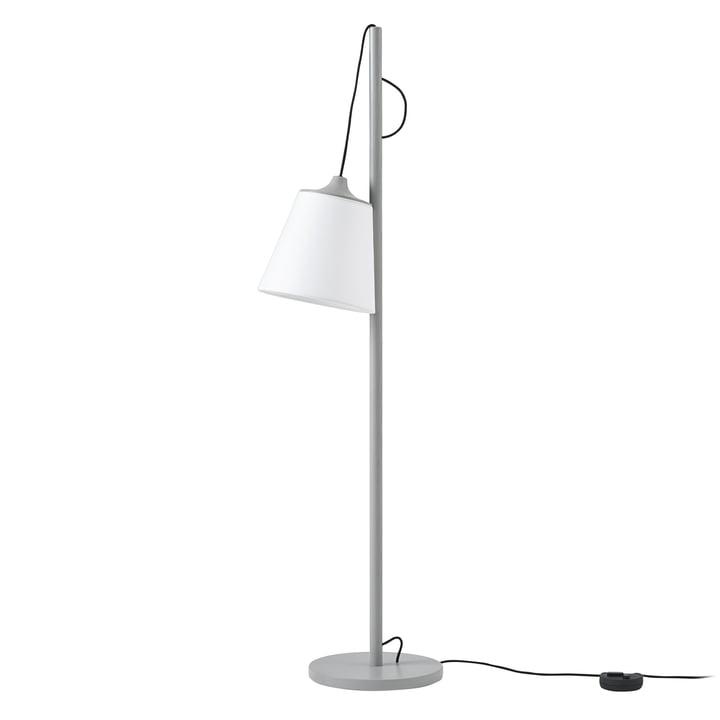 Tirez le lampadaire Muuto en gris / blanc