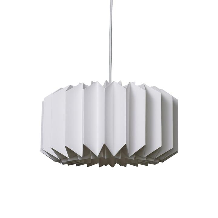 Suspension lumineuse Pleats 154 taille M par Le Klint en blanc soyeux