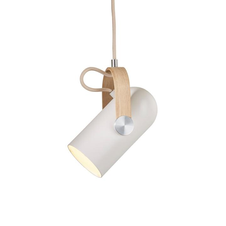 Lampe à suspension Carronade 160 Nordic Classic de Le Klint en chêne savonné / aluminium laqué mat