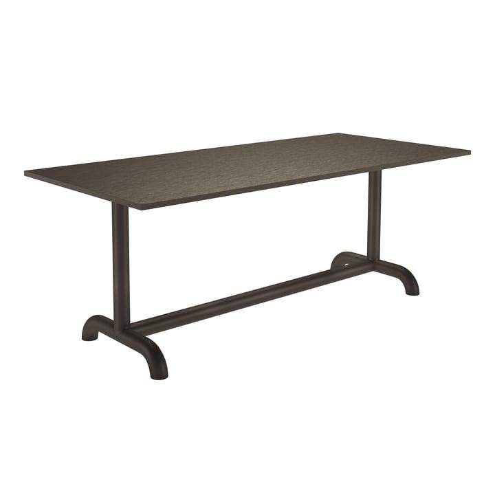 La table à manger de Unify de Petite Friture , 90 x 200 cm, gris brun