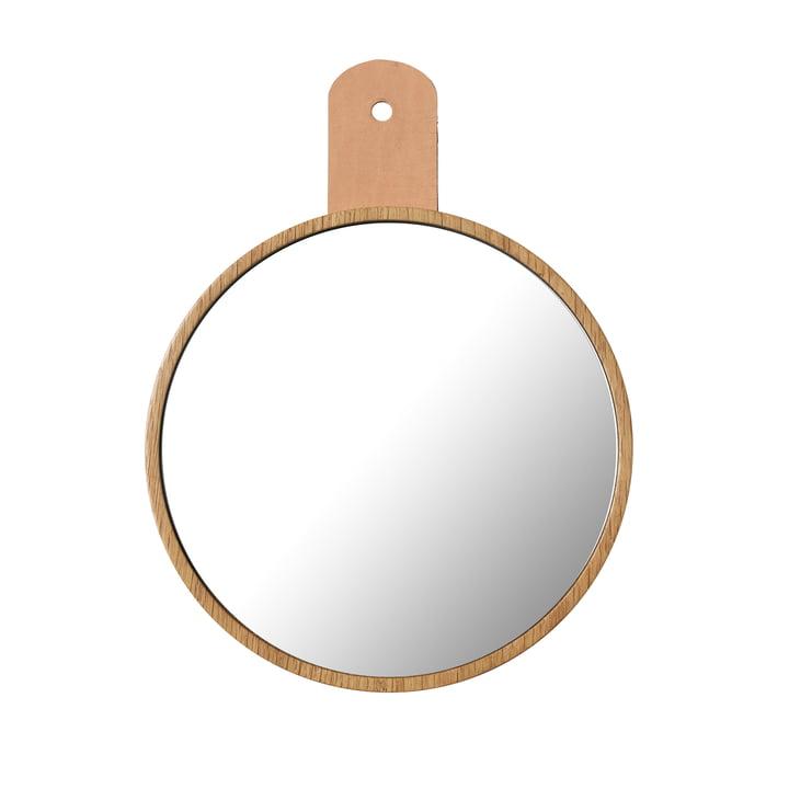 Le miroir Q5 Allé de FDB Møbler pour l'armoire murale en chêne naturel