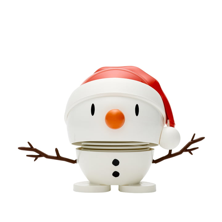 Santa Snowman , petit / blanc de Hoptimist