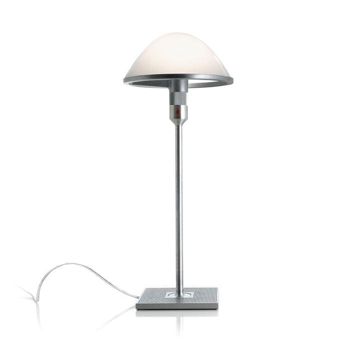 Le Mirandolina D60pi. Lampe de table de Luceplan en aluminium / verre opale