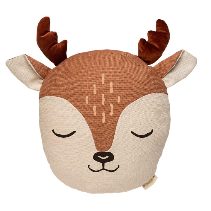 L'oreiller de cerf de Nobodinoz dans sienna brown