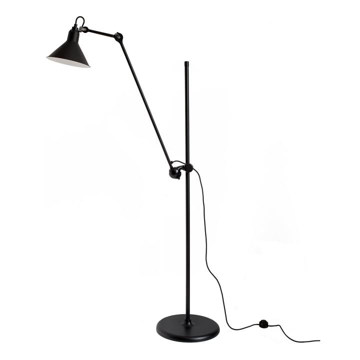 Lampe Gras No 215 lampadaire DCW en noir / noir
