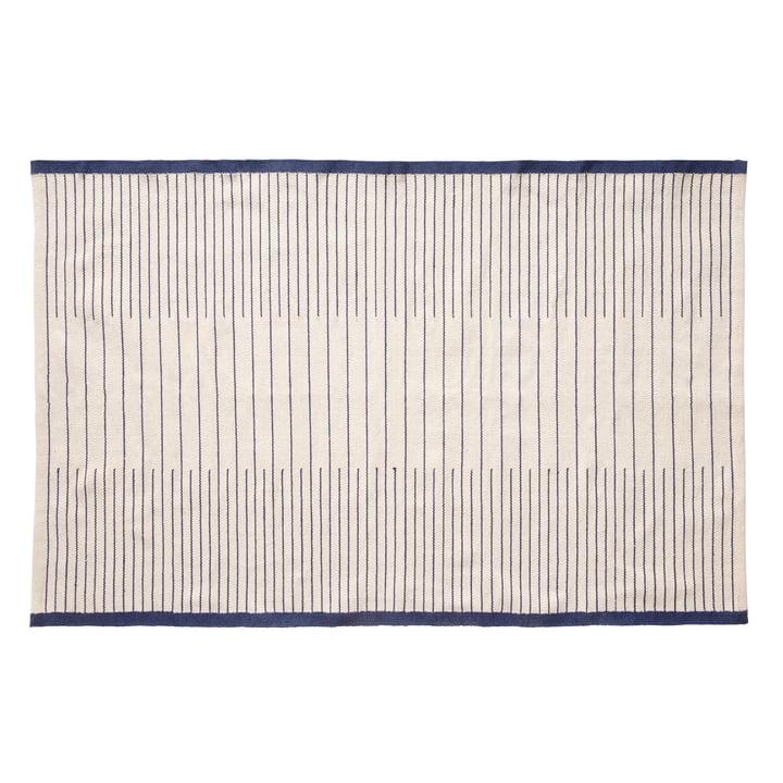 Tapis tissé 120 x 180 cm, bleu / blanc de Hübsch Interior