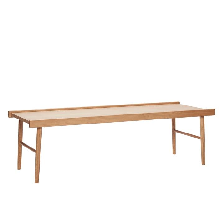 Table basse à bords, chêne, naturel de Hübsch Interior