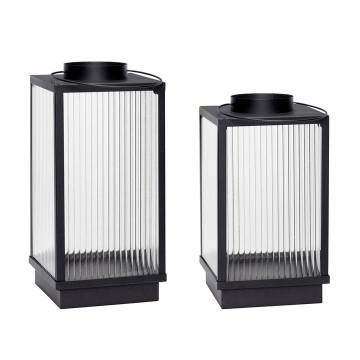 Lanternes, ensemble de 2, noir de hübsch Interior
