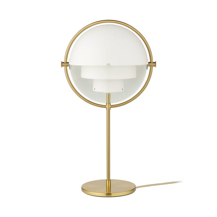 Multi-Lite Lampe de table, laiton / blanc mat par Gubi