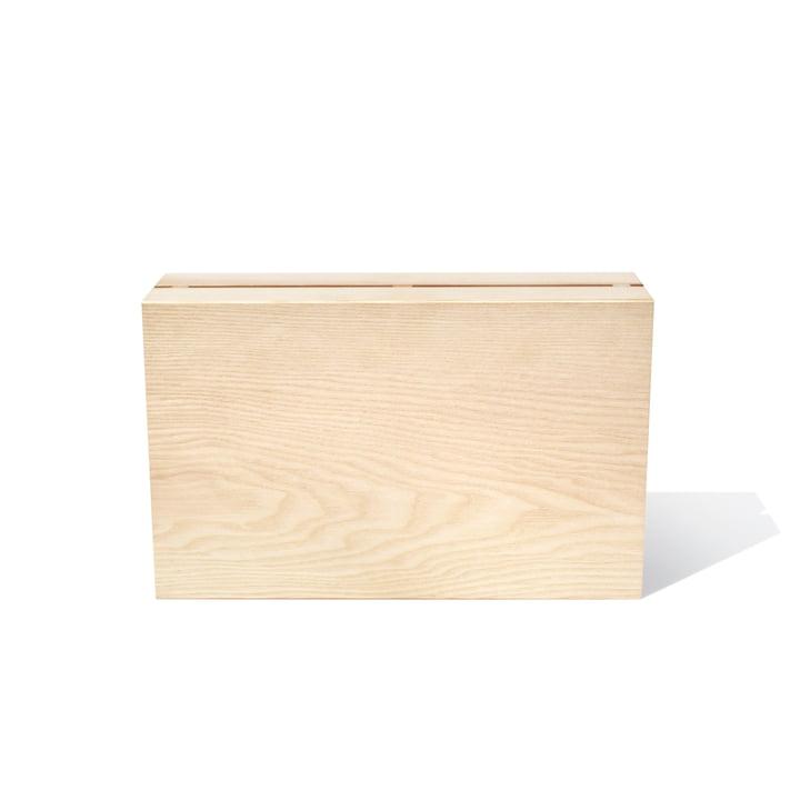 Le bloc de couteaux Timber Twin de side by side en cendres