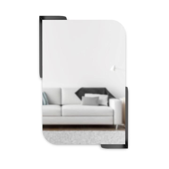 Le miroir mural Alcove avec étagère de Umbra , 51 x 76 cm, noir