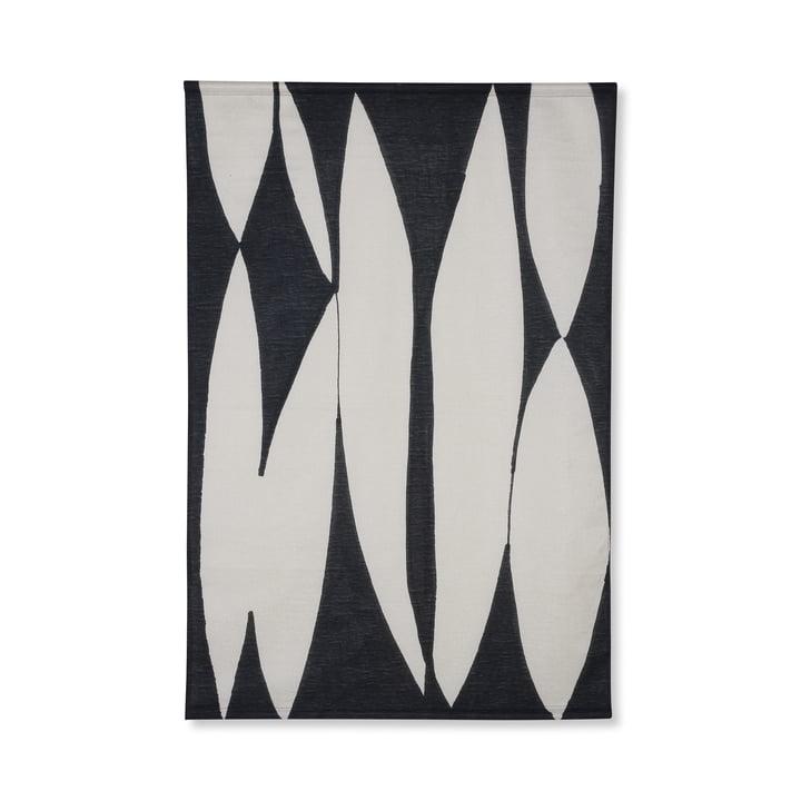 Murale abstraite, 97 x 147 cm, noir / blanc par HKliving