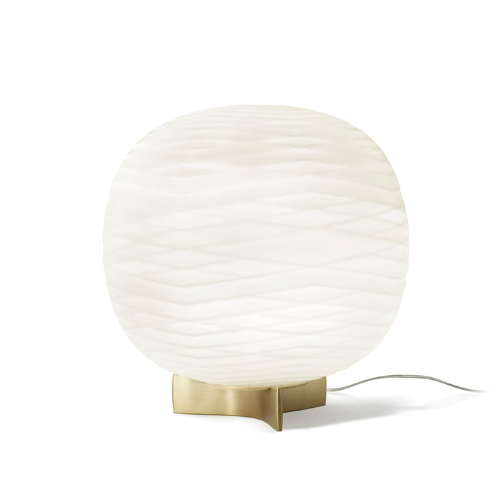 Lampe de table Gem avec variateur d'intensité par Foscarini en blanc