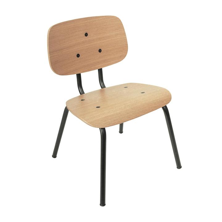 La chaise pour enfants Oakee de Sebra en chêne naturel / noir