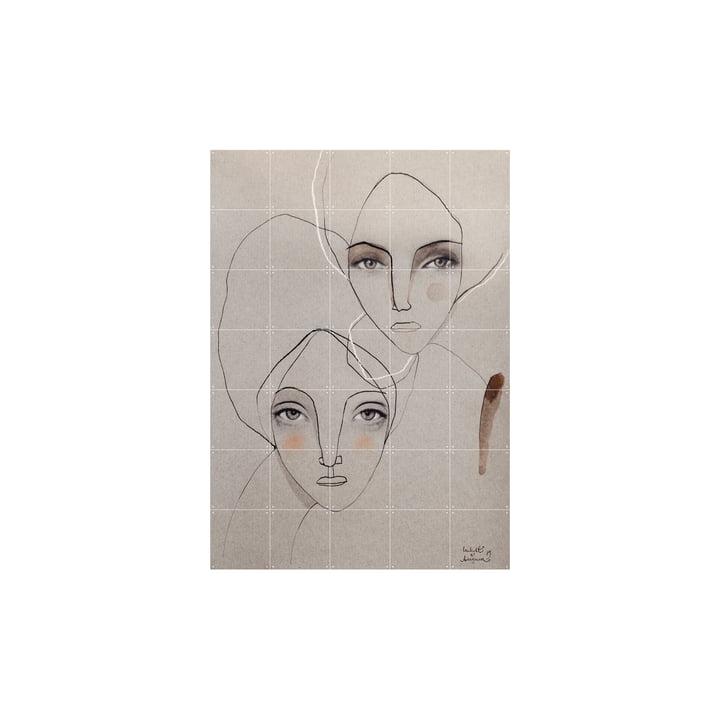 Pepper and Pearl La fresque de IXXI peut être accrochée sans perçage