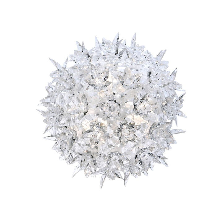 Bloom CW2 Applique lumineuse petite de Kartell en cristal clair