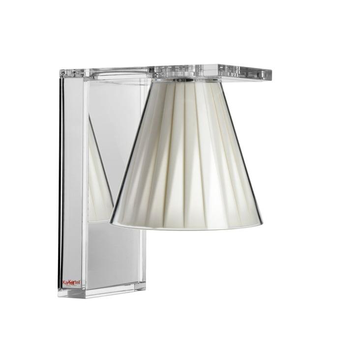 Applique lumineuse, cristal clair / beige de Kartell