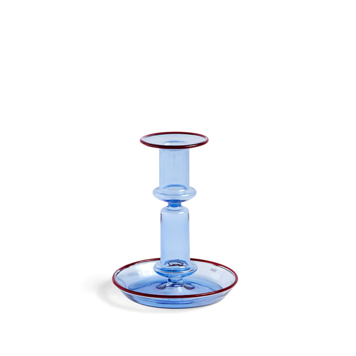 Flare Chandelier, h 14 cm, bleu clair / rouge à partir Hay