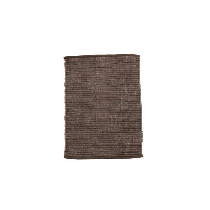 Le tapis Chindi de House Doctor en brun, 90 x 60 cm