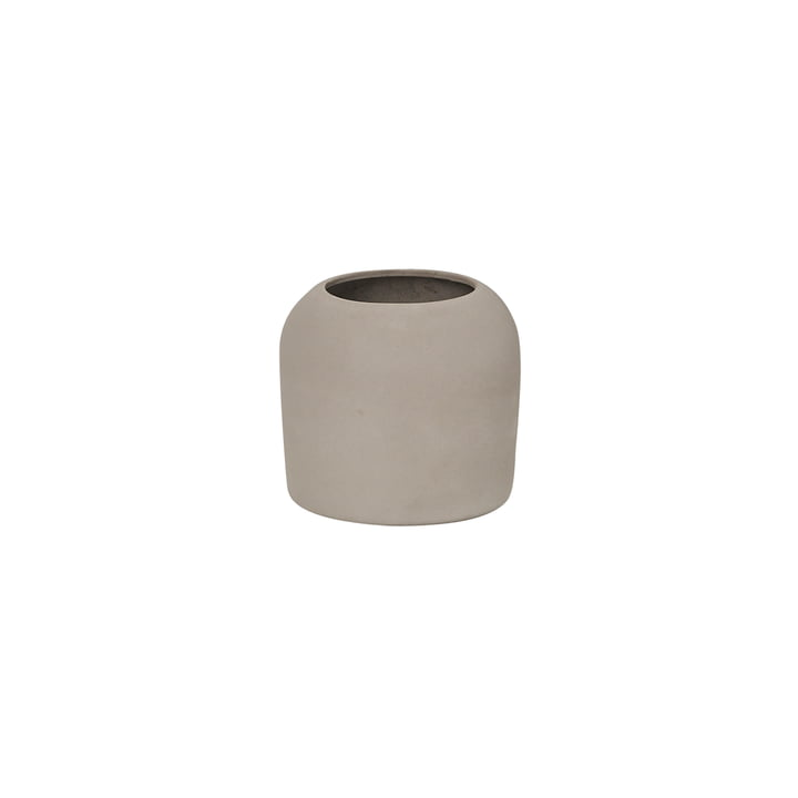 Dome Vase XS Ø 16 x H 14 cm, gris de Kristina Dam Studio