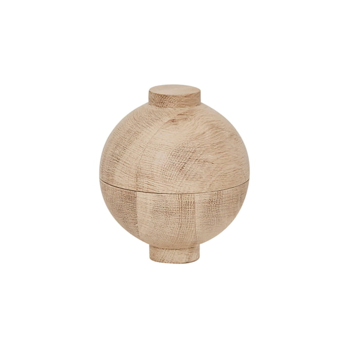 Wooden Sphere Stockage Ø 12 x H 15 cm, chêne de Kristina Dam Studio