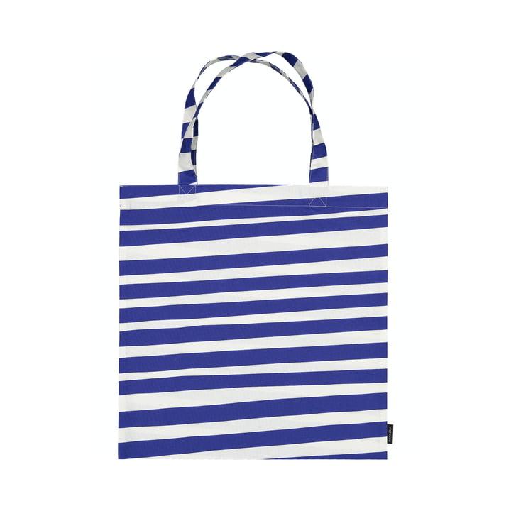 Le sac à provisions Uimari de Marimekko en blanc / bleu
