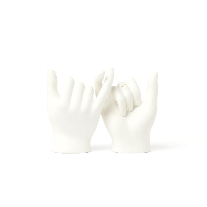 Pinky Swear Salière et poivrière (jeu de 2), blanc de Doiy