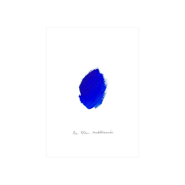 Le Bleu I Affiche, 30 x 40 cm de Paper Collective