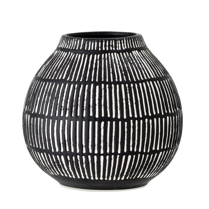 Le vase Elceda de Bloomingville en noir, H 14,5 cm