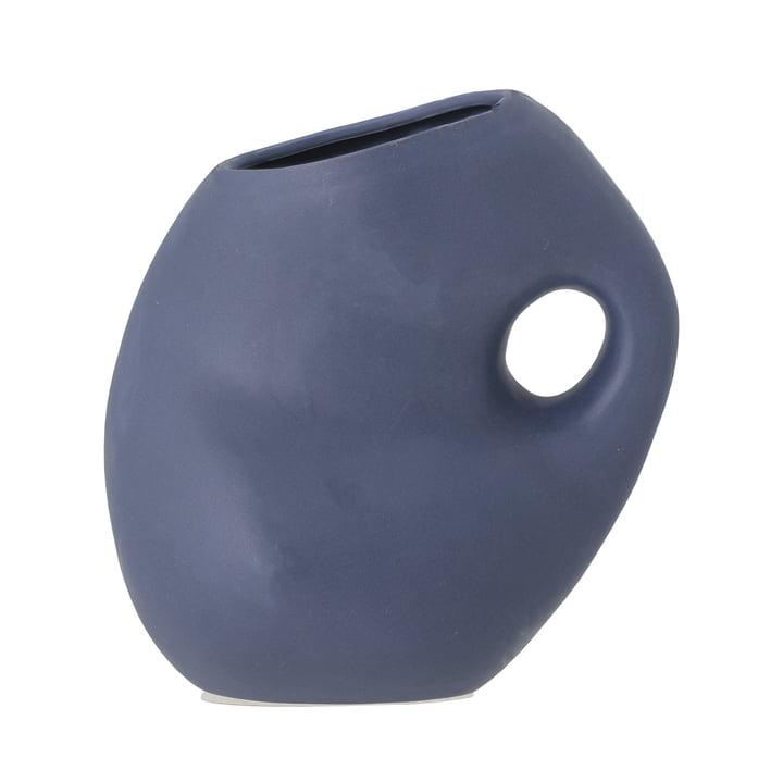 Le vase Asya de Bloomingville en bleu H, 16 cm