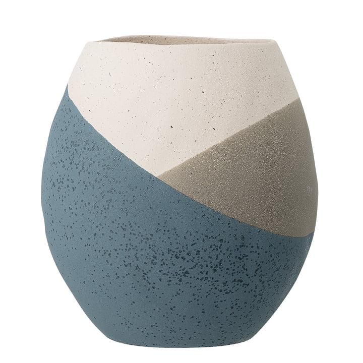 Le pot de fleurs Noak de Bloomingville en bleu, Ø 20,5 cm