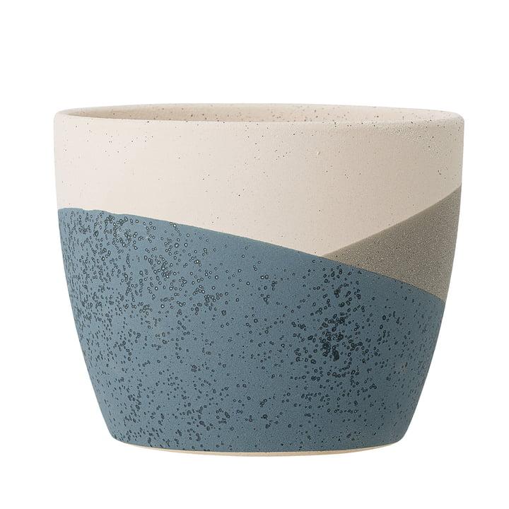Le pot de fleurs Nkosi de Bloomingville en bleu, Ø 17 cm