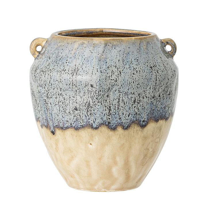 Le pot de fleurs Ika de Bloomingville en bleu, Ø 14 cm