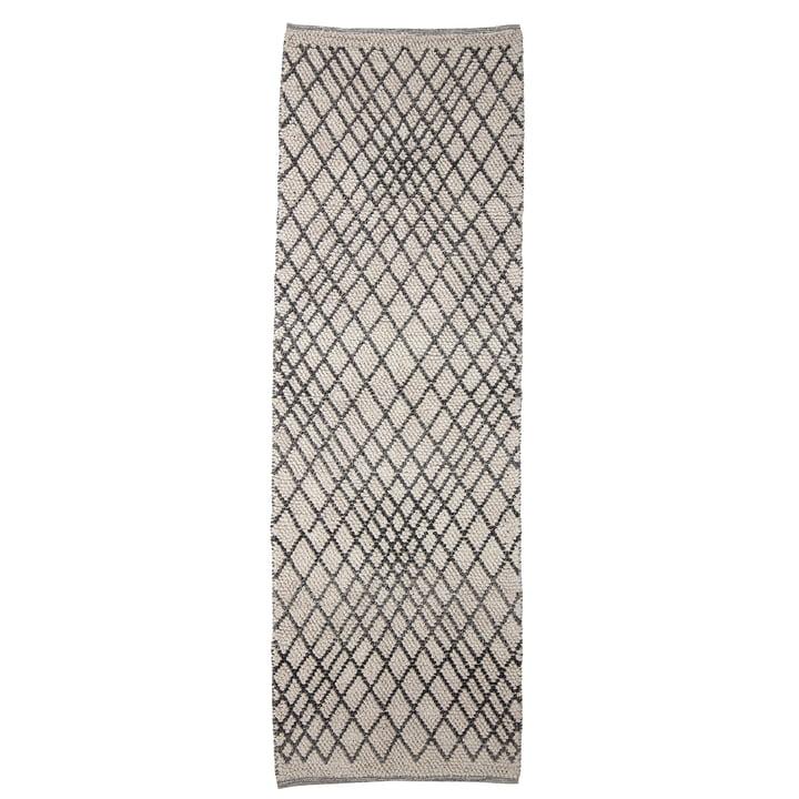 Le tapis Kaya de Bloomingville , 250 x 80 cm, gris