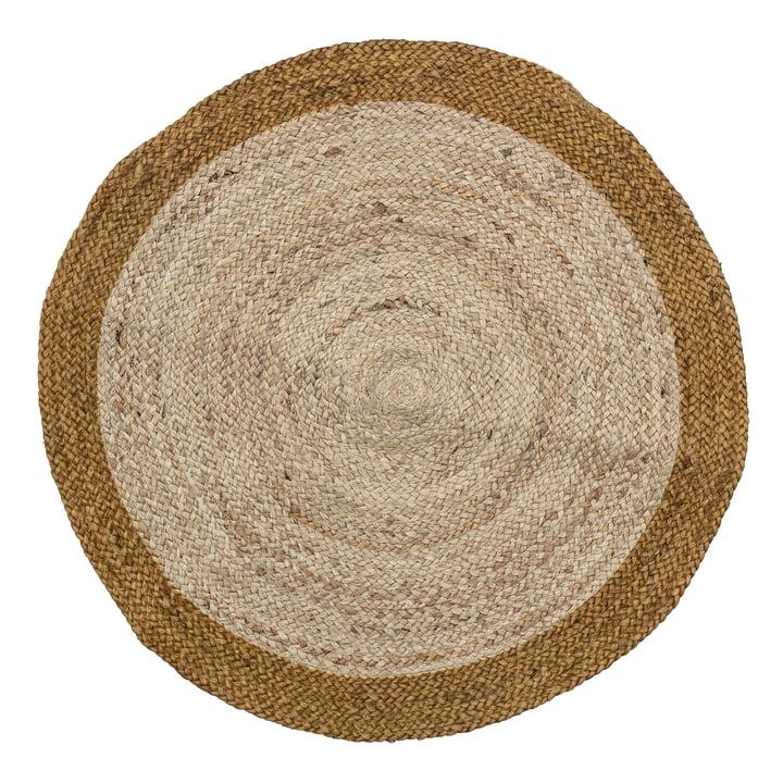 Birk Tapis, Ø 90 cm de Bloomingville en brun