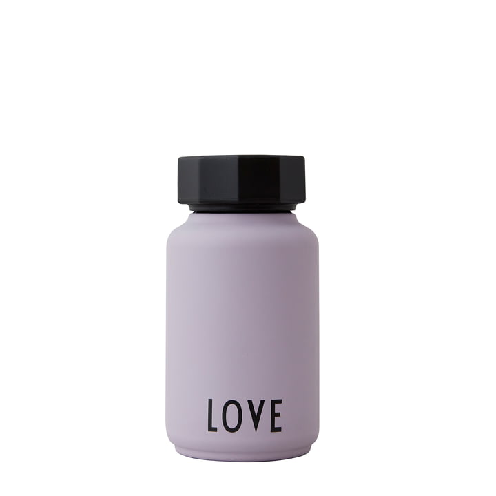 The AJ Thermos Hot & Cold from Design Letters , Love / lavender (édition spéciale)